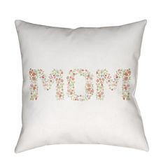 Decor 140 Floral Mom Square Throw Pillow