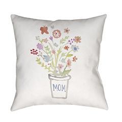 Decor 140 Flowers For Mom Square Throw Pillow