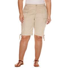 St. John's Bay® Bermuda Shorts - Plus (11.5