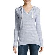 Liz Claiborne Long Sleeve Pullover Hoodie Tunic