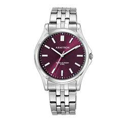 armitron men s watches for jewelry watches jcpenney armitron® mens burgundy dial stainless steel bracelet watch