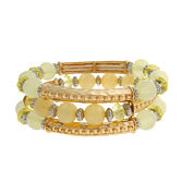 Mixit Womens Gold Over Brass Beaded Bracelet