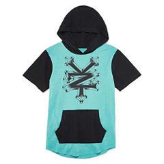 Zoo York Short Sleeve Hooded Neck T-Shirt-Big Kid Boys