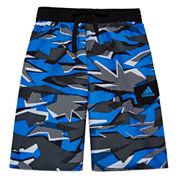 Adidas Boys Pattern Trunks-Big Kid
