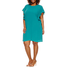 Worthington® Flutter Sleeve Shift Dress - Plus