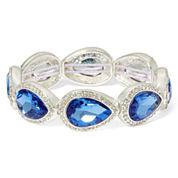Monet® Blue Stone and Silver-Tone Stretch Bracelet