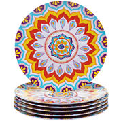 Certified International Akela Set of 6 Melamine Dinner Plates
