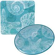 Certified International Aqua Treasures 2-pc. Melamine Platter Set