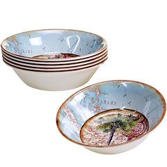 Certified International Antique Palms Set of 6 Melamine All-Purpose Bowls