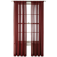 Royal Velvet® Cherise Rod-Pocket Sheer Curtain Panel