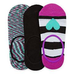 Total Girl® 3-pk. Heart and Stripe Liner Socks - Girls 7-16