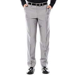 Men's JF J. Ferrar® Gray Shimmer Shark Flat-Front Slim Fit Suit Pants