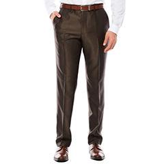 JF J. Ferrar® Brown Shimmer Slim-Fit Pants