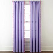 Home Expressions™ Pom Pom Rod-Pocket Curtain Panel
