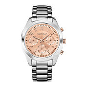 Caravelle New York® Womens Rose-Tone Dial Chronograph Watch 45L143