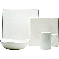 Red Vanilla Bone China Orbit 4-pc. Place Setting