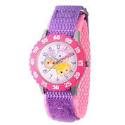 Disney Tsum Tsum Girls Purple Strap Watch-Wds000115