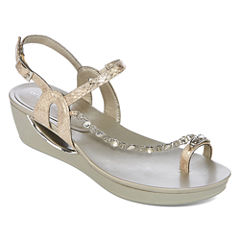 Andrew Geller Casidy Womens Wedge Sandals
