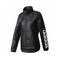 Adidas Hooded Wind Resistant Water Resistant Windbreaker