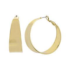 Worthington® Gold-Tone Thick Hoop Earrings