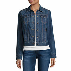 St. John's Bay Denim Jacket-Talls