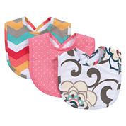 Trend Lab Waverly Girls 3-pc. Bib Set