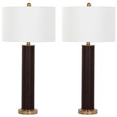 Safavieh Ollie Faux Snakeskin Table Lamp