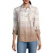St. John`s Bay Long Sleeve Button-Front Shirt