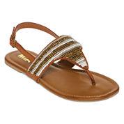 Mia Girl® Celestina Beaded Flat Sandals