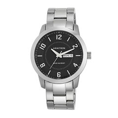 Armitron® Men's 5142 Black Dial Stainless Steel Watch