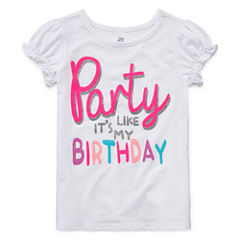 Okie Dokie Girls Birthday T-Shirt-Toddler Girls