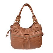 Bueno Of California Pearlized Washed Double Shoulder Bag