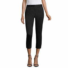 Worthington Sateen Cropped Pants-Talls
