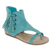 2 Lips Too Cory Womens Flat Sandals