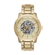 Relic 100 Mens Gold Tone Bracelet Watch-Zr12200