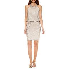 Jackie Jon Sleeveless Blouson Dress