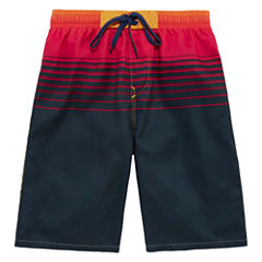 Burnside Boys Solid Swim Trunks-Big Kid
