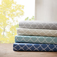 Madison Park 200tc Fretwork Cotton Sheet Set