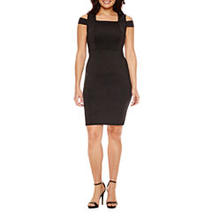 Bold Elements Short Sleeve Cold Shoulder Bodycon Dress
