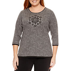 Made For Life 3/4 Sleeve Crew Neck T-Shirt-Plus