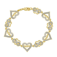 Classic Treasures™ Diamond-Accent Heart Mom Bracelet