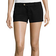 Arizona Cabo Mid-Rise Twill Shorty Shorts  - Juniors