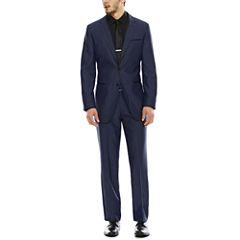 Akademiks® Birdseye Blue Suit Separates - Slim Fit