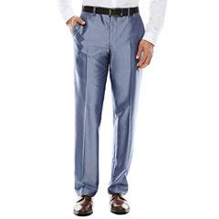 JF J. Ferrar® Shimmer Blue Flat-Front Suit Pants - Slim Fit
