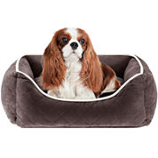 Sleep Philosophy Keane Quilted Orthopedic Foam Rectangular Cuddler Dog Bed