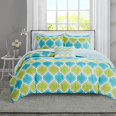 Intelligent Design Tracy Reversible Complete Bedding Set with Sheets
