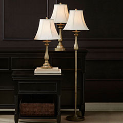 JCPenney Home™ Set of 3 Hennessey Floor & Table Lamps