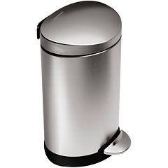 simplehuman® 6L Mini Semi-Round Step Trash Can