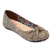 Pop Positive Knotted Ballet Flats - Wide Width