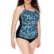 Delta Burke® Santorini High-Neck Shirred Mio 1-pc. Swimsuit - Plus
